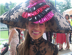 Outrageous hat at Ascot